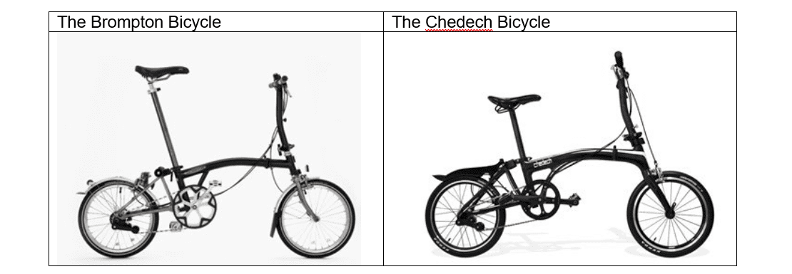 Brompton Bicycle, Image comparing with Chedech