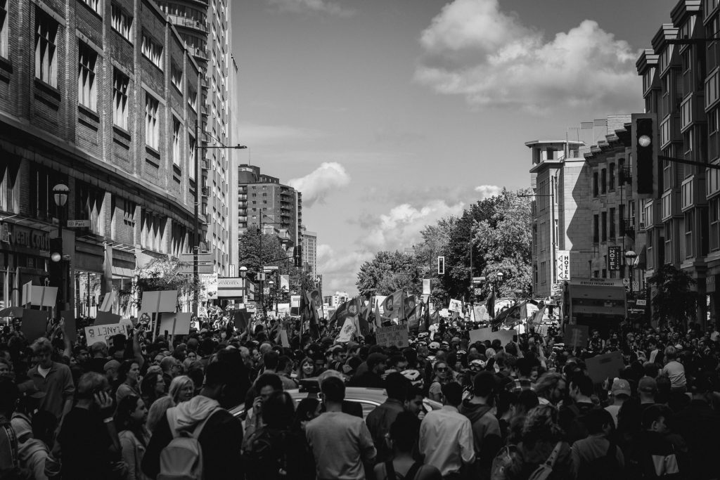 Prior rights and trade marks: image of a crowd in black and white